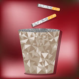 Disposable cigarette bins Royalty Free Stock Images
