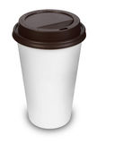 Disposable Coffee Cup. With path Royalty Free Stock Photo