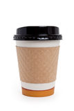 Disposable Coffee Cup. With white background Royalty Free Stock Photo
