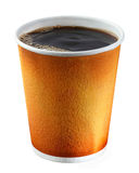 Disposable coffee cup. On white background Stock Images