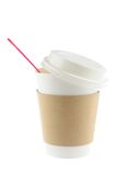 Disposable coffee cup Stock Images