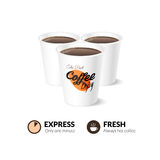 Disposable coffee cup  on white background Stock Images