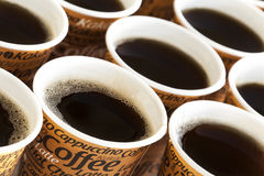 Disposable coffee cups Stock Image