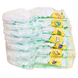 Disposable Colorful Baby Diapers. Stock Photos