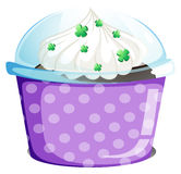 A disposable container with a cake Royalty Free Stock Photos