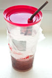 Disposable cup for beverages Stock Images
