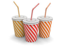 Disposable cup (clipping path included) Stock Images