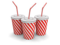 Disposable cup (clipping path included) Royalty Free Stock Photography