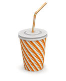 Disposable cup (clipping path included) Royalty Free Stock Images