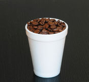 Disposable coffee cup Royalty Free Stock Images