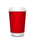 Disposable cup isolated over white background Royalty Free Stock Photo