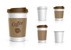 Disposable Cup Set Stock Photography