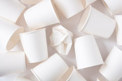 Disposable cups background Royalty Free Stock Photos