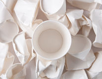 Disposable cups background Royalty Free Stock Photography