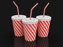 Disposable cups (clipping path included) Stock Photography