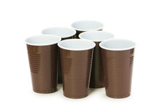 Disposable cups isolated Royalty Free Stock Photo