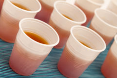 Disposable cups with tea Royalty Free Stock Photos