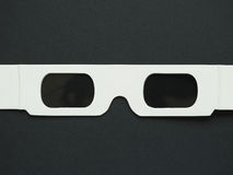 Disposable 3D glasses for movies Royalty Free Stock Photos
