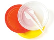 Disposable dishware Royalty Free Stock Photo