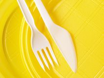 Disposable dishware Stock Images