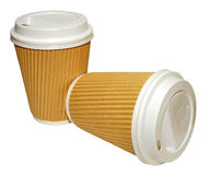 Disposable Drinks Cups Royalty Free Stock Photo