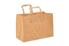 Disposable paper bag Royalty Free Stock Photography