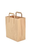 Disposable paper bag Royalty Free Stock Photo