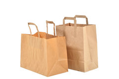 Disposable paper bag Royalty Free Stock Images
