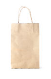 Disposable paper bag on white background Stock Photo