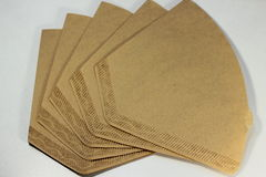 Disposable paper coffee filter Royalty Free Stock Images
