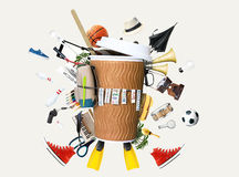 Disposable paper Cup Stock Photo