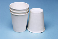 Disposable paper cups Royalty Free Stock Photos