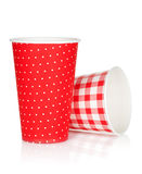 Disposable paper cups Royalty Free Stock Photography