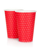 Disposable paper cups Stock Images