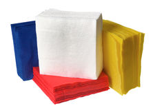 Disposable paper napkins Stock Image