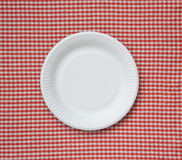 Disposable paper plate. Stock Photo