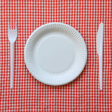 Disposable paper plate. Stock Photography