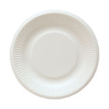 Disposable Paper Plate Isolated On White Royalty Free Stock Photo