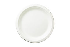 Disposable paper plate Royalty Free Stock Image