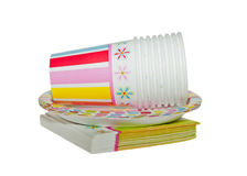 Disposable Party dishware Stock Photography