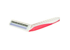 Disposable pink razor Royalty Free Stock Image
