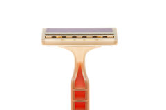 Disposable pink razor Royalty Free Stock Photos