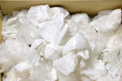 Disposable plastic bags. Royalty Free Stock Images