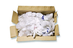 Disposable plastic bags in box Royalty Free Stock Photography