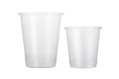 Disposable plastic glasses Royalty Free Stock Photo
