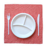 Empty plastic plate. Royalty Free Stock Photos