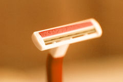Disposable plastic shaving razor Stock Image