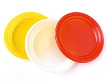 Disposable plates Stock Photo