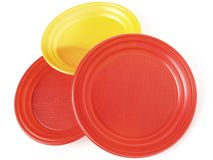 Disposable plates Stock Photos