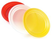 Disposable plates Royalty Free Stock Photo